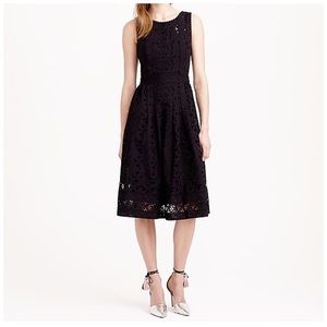 J. Crew Collection pleated eyelet dress size 4